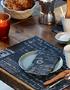 Bedrukte servetten, bestekzakjes en placemats